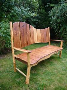 Oak-garden-bench