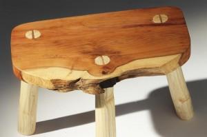 Yew-Milking-stool
